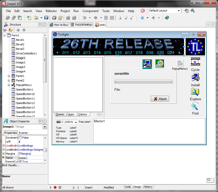 menu95 exe, extracting Delphi forms and other resources