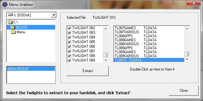import twilights screen